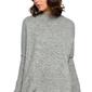 Szary sweter z niską stójką