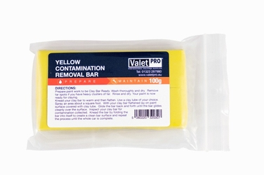 Valetpro yellow poly clay bar średnia glinka 100g