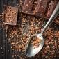 Obraz zbliżenie z ciemnej czekolady