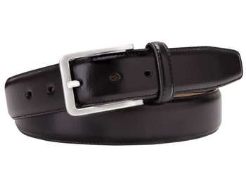 Czarny skórzany pasek męski 3,5 cm 110