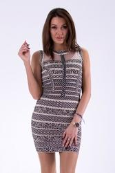 Soky soka sukienka beżowy 46025-3