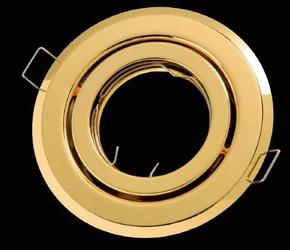Oprawa okrągła ruchoma, tłoczona - złoty