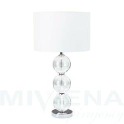 Lampa stołowa 1 chrom szkło abażur