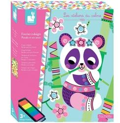 Zestaw kreatywny janod kolorowy tusz - panda i przyjaciele 3+