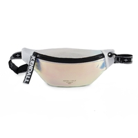Torebka kendall+kylie sadie belt bag iridescent - srebrny