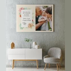 Obraz na płótnie ze zdjęciem 70x100 cm dla babci i dziadka