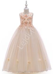 Szampańska suknia dla dziewczynki na wesele, na bal 212