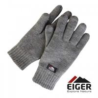 Rękawiczki ocieplane eiger knitted glove whit 3m thinsulate lining grey roz. xl