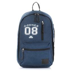 Niebieski młodzieżowy plecak vintage na laptopa 4090-3