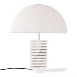 Hk living :: podstawa do lampy stołowej ribbed biała