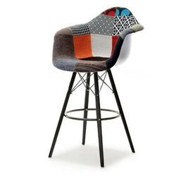 Hoker kubełkowy tunis patchwork