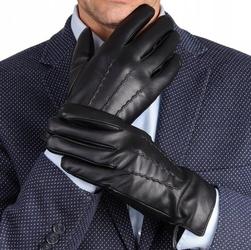 Rękawiczki eco skóra męskie dotykowe ocieplane miś rkw1-m rozm.m