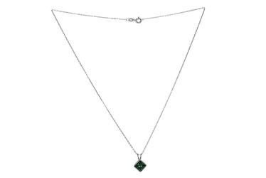 Srebrny naszyjnik z kryształem swarovskiego