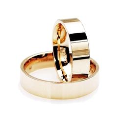 Staviori obrączka. żółte złoto 0,585. szerokość 5 mm. grubość 1,1 mm.   cena za sztukę   wypukłe w środku   płaskie z zewnątrz