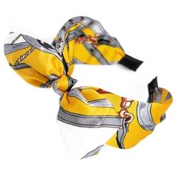 Opaska do włosów szeroka pin up żółta kokarda
