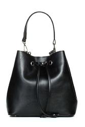 Czarna pojemna torebka ze ściągaczem