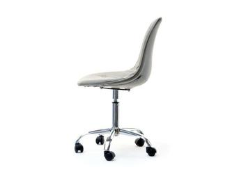 Krzesło obrotowe szare tunis ll ekoskóra