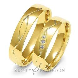 Obrączki ślubne złoty skorpion – wzór au-a152