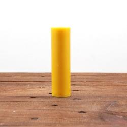 Świeca z wosku pszczelego d 14,5x4cm - żółta kolor naturalny