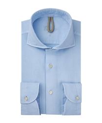 Męska niebieska koszula bawełna barwiona s