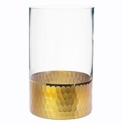 Świecznik szklany  wazon altom design golden honey 20 cm