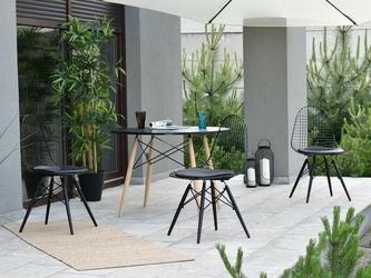 Krzesło ogrodowe tunis wood loft czarne
