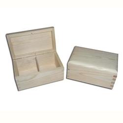 Pojemnik drewniany na herbatę - 2 przegródki - 2prze