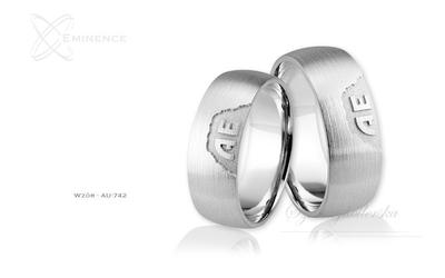 Obrączki ślubne - wzór au-742