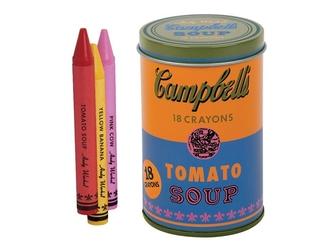 KREDKI ŚWIECOWE Andy Warhol w pomarańczowej puszce 18 szt.