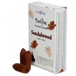Drzewo sandałowe - kadzidełka stożkowe typu backflow op. 12 szt