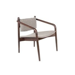 Dutchbone :: krzesło lounge torrance brązowe