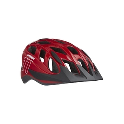 Kask lazer j1 red + siatka+ led