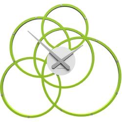 Zegar ścienny black hole calleadesign zielony  biały 10-215-76