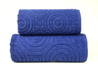 EMMA 2 GRANATOWY ręcznik bawełniany GRENO - granatowy