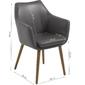 Krzesło z podłokietnikami neira vintage