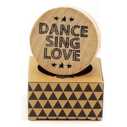 Drewniany stempel Pop Stamp- Dance sing love - 009