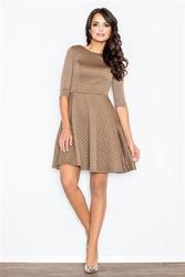 Sukienka zoe m235 beĺźowa