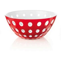 Guzzini -le murrine - misa 25 cm, czerwona - czerwony || biały