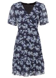 Sukienka z nadrukiem bonprix ciemnoniebieski w kwiaty