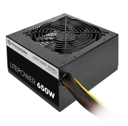 Thermaltake Litepower II Black 650W Active PFC, 2xPEG, 120mm, Single Rail