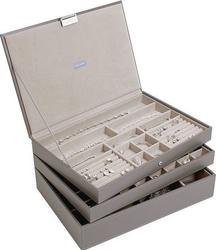 Szkatułka na biżuterię stackers potrójna supersize brązowoszara