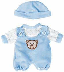 Ubranka dla lalek - Niebieski śpioszek dla małej lalki 21cm