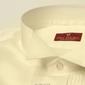 Elegancka śmietankowa ecru koszula smokingowa - normal fit 47
