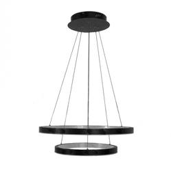 Lampa wisząca żyrandol okręgi obręcze 2 ringi led