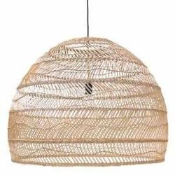 Hk living :: lampa wisząca wiklinowa l ø80cm