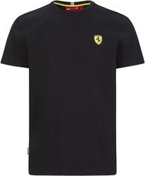 Koszulka scuderia ferrari f1 small shield czarna - czarny