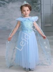 Dziecięca sukienka z bajki frozen, przebranie elza