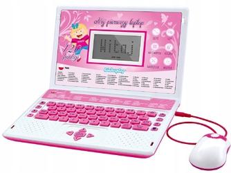 Laptop edukacyjny dla dziecka kinderplay pink