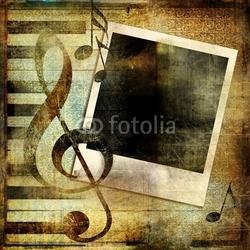Plakat na papierze fotorealistycznym rocznika muzyczne tło