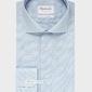 Extra długa niebieska koszula michaelis z kołnierzem włoskim 40